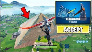 *NEW* Fortnite PLAYGROUND MODE Gameplay! (BREAKING WORLD RECORDS WITH FANS!)