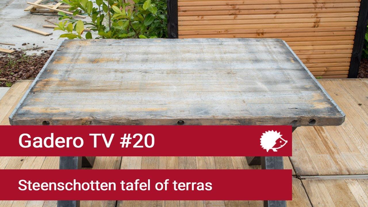 20 terras leggen of tafel maken van steenschotten youtube for Tafel van steenschotten
