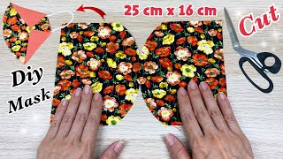 New Style Cute Mask Diy Breathable Fabric Face Mask Very Easy Pattern Sewing Tutorial At Home