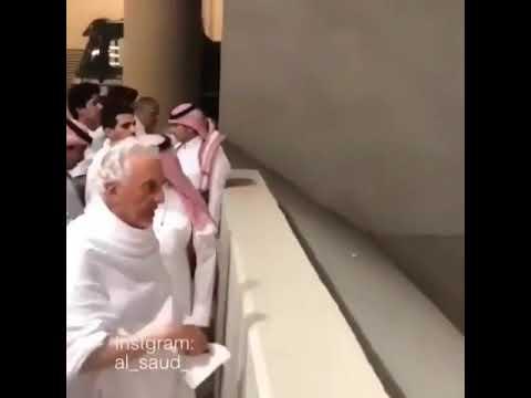 Retired Pope Benedict XVIperform hajj (Nope! It's Prince Khalid Al-Faisal)