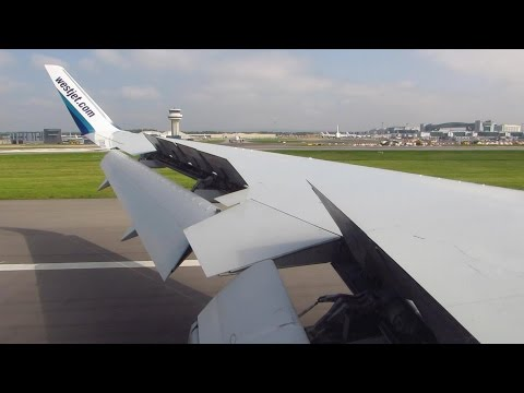 WESTJET Boeing 767-300ER STUNNING ONBOARD Landing at London Gatwick LGW [Full HD]