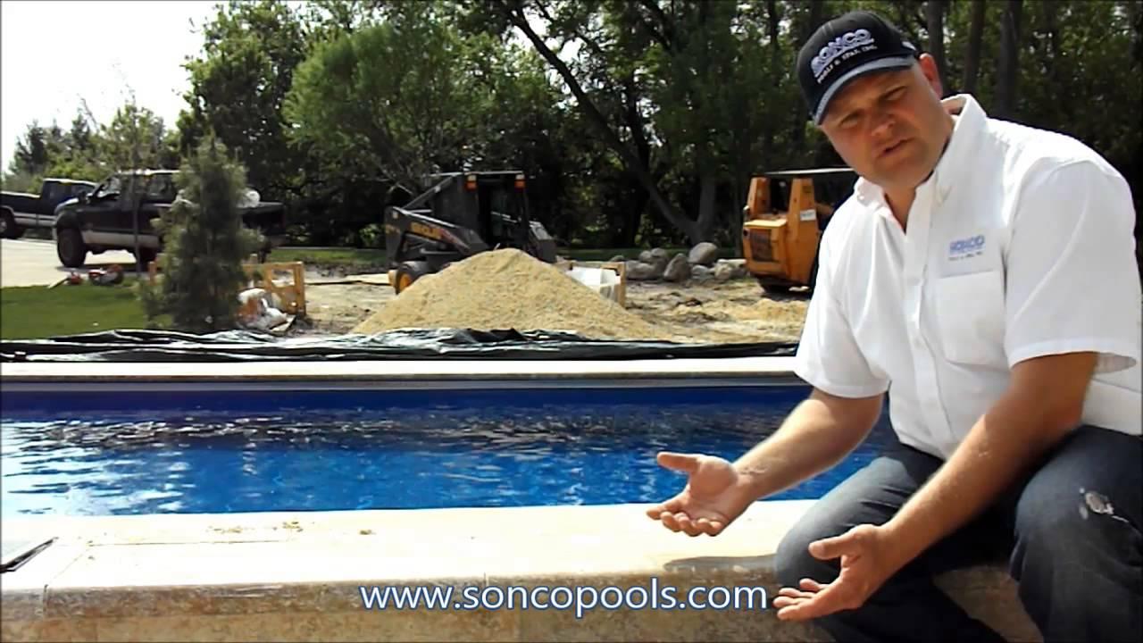 Sonco Pools And Spas Travertine Stone Coping Fiberglass