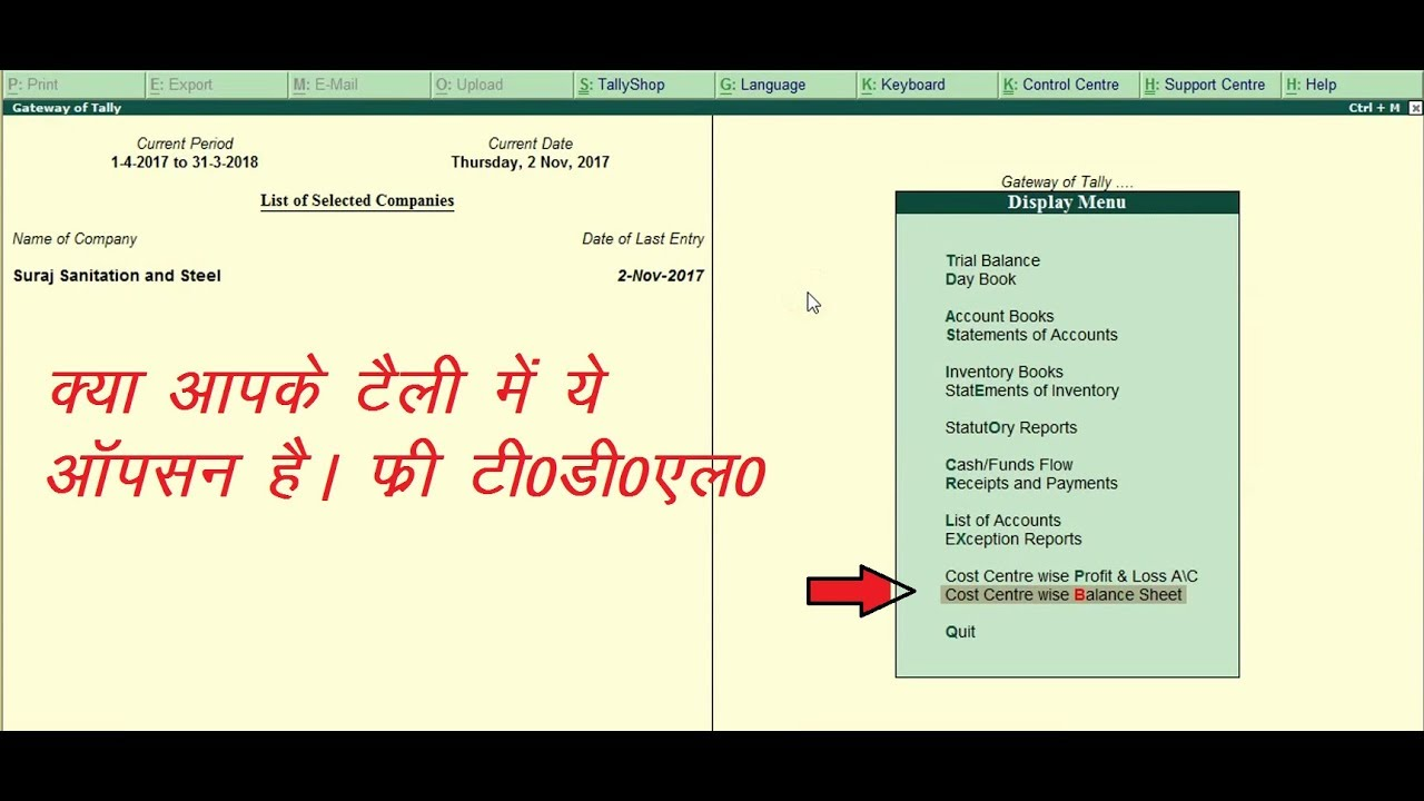 free tdl cost center wise p l and balance sheet in tally erp9 6 2