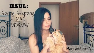 haul spring shopping mac giveaway closed ikea zara h mac   mary and her cat