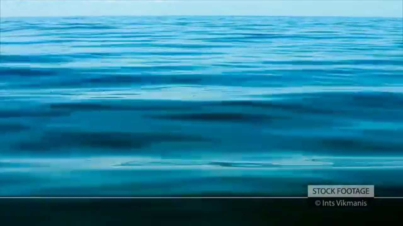 Ocean Water Background stock footage: blue calm sea water background - youtube