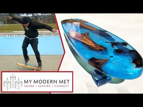 "Resin ""River Cruiser"" Skateboards by DriftWood Works"