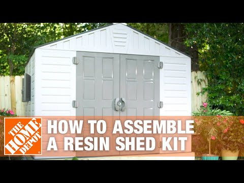 how-to-build-a-shed-for-outdoor-storage-using-a-resin-shed-kit-|-the-home-depot