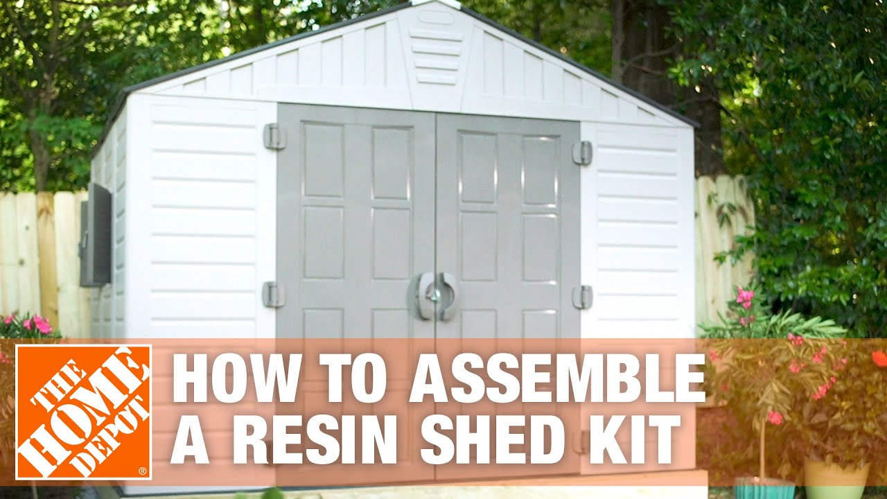 How To Build A Shed For Outdoor Storage Using A Resin Shed Kit