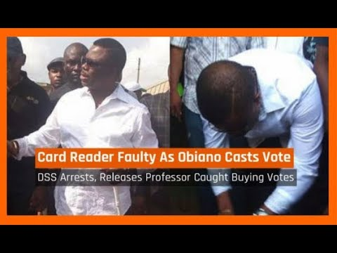 Nigeria News Daily: Anambra Election: INEC Card Reader Faulty As Obiano Votes (18/11/2017)