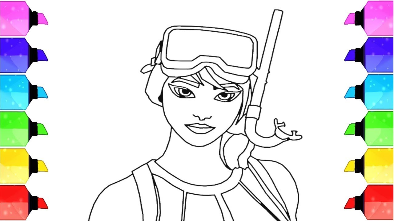 Fortnite Character Coloring Page How To Draw Fortnite
