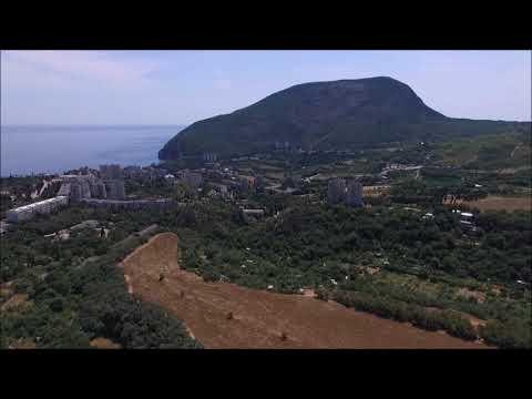 Крым с квадрокоптера: Аю Даг, Партенит.