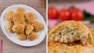 Сырные оладьи в духовке - Рецепты от Со Вкусом