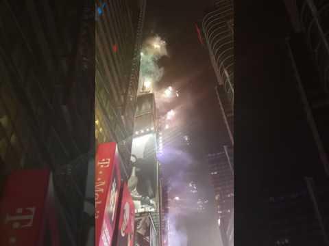 Ball dropping at Manhattan new York 1.1.17