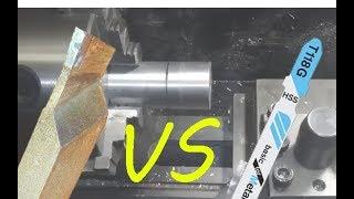 Самодельный отрезной резец по металлу для настольного токарного станка.