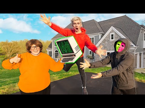 WE STOLE MYSTERY NEIGHBOR TWIN TIME MACHINE GADGET!! (Intercepted at Official Sharer Fam House)