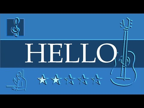 Acoustic Guitar Notes Tutorial - Adele - Hello (Sheet music)