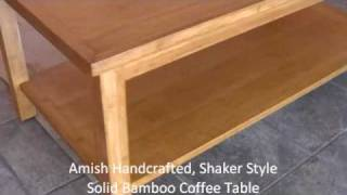 Solid Bamboo Coffee Table
