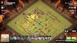 Clash of Clans War Replay | TH12 | 3La + 34loon & Miner | COC 2018 | Fusion