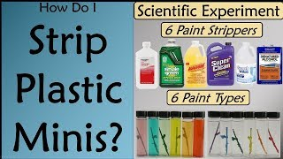 Paint Stripping for Plastic Minis? Head-to-Head Testing of Six Cleaning Solvents!