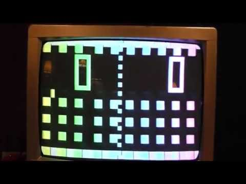 Vintage Atari Pong Unboxing and gameplay