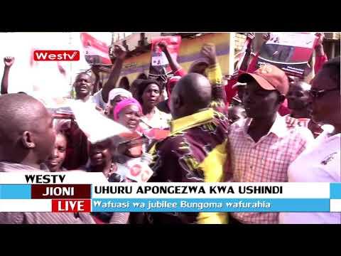 Viongozi na wafuasi wa jubilee wampongwza rais Uhuru kwa ushindi