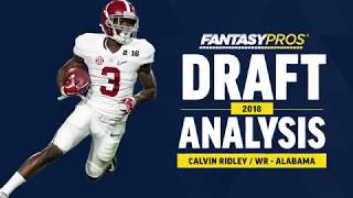 Calvin Ridley 2018 NFL Draft Analysis