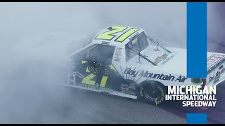 Crazy overtime finish at Michigan ends with Zane Smith muscling first career win | NASCAR