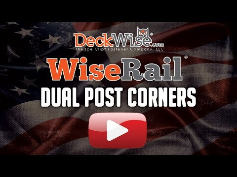WiseRail® Cable Rail: Dual Post Corners