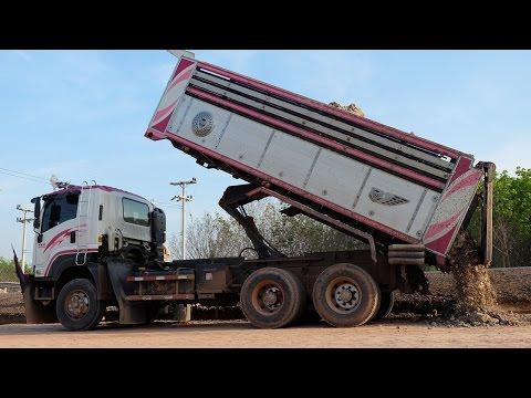 รถดั้มสิบล้อสวยๆ รถบรรทุก ดั้มดินทำทาง DUMP TRUCKS