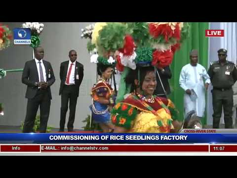 President Buhari Commissions Rice Seedling Factory In Calabar Pt.2
