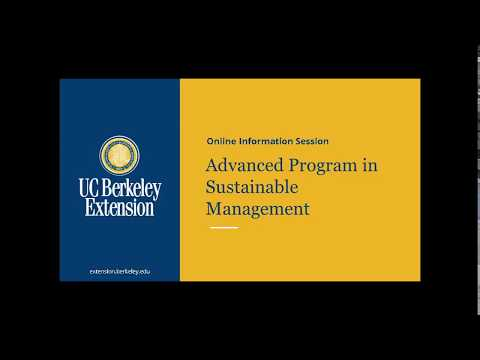 Advanced Program In Sustainable Management