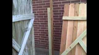 Part 2 - Fence Repair - Gate And Fence Rebuild