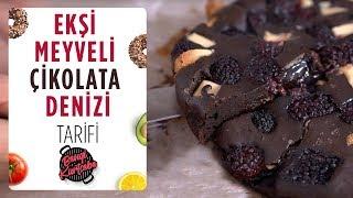 Ekşi Meyveli Çikolata Denizi Kolay Çikolatalı Tatlı Tarifi