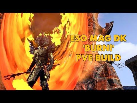 "ESO - Magicka Dragonknight PVE build ""BURN!"" - (Homestead)"