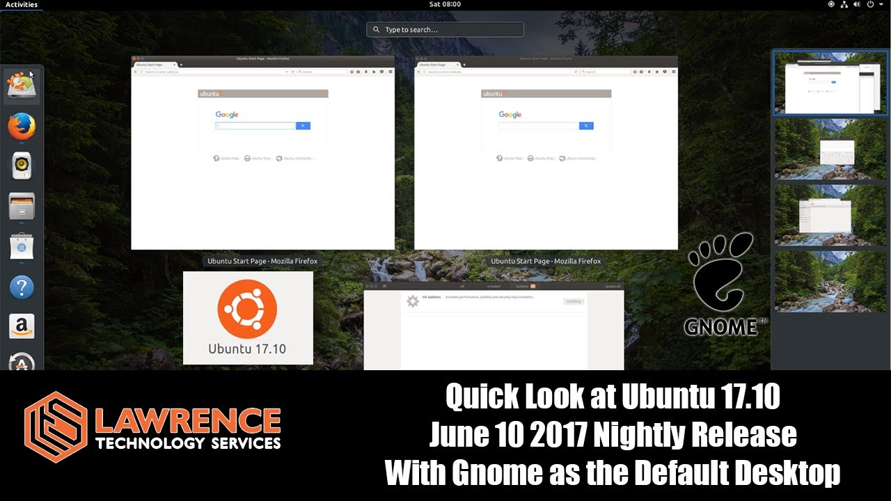 Quick Look at Ubuntu 17 10 June 10 2017 Nightly Release With Gnome as the  Default Desktop