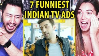 7 FUNNIEST INDIAN TV ADS - PART 6 (7LAB) | Reaction | Jaby Koay & Jackie Zender!