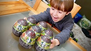 7 SURPRISE EGGS WITH BREAKOUT BEASTS MEGA CONSTRUX!! Toys for Kids