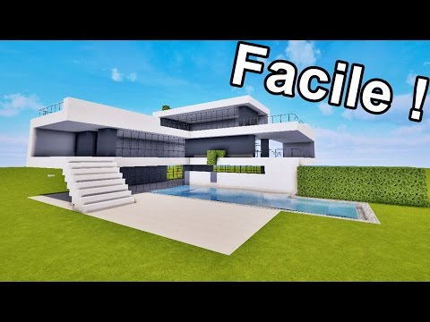 MAISON ULTRA MODERNE FACILE À FAIRE SUR MINECRAFT ! TUTORIEL
