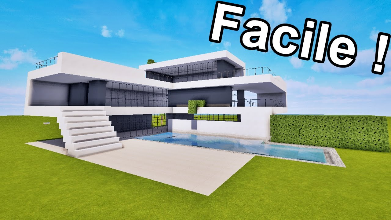 MAISON ULTRA MODERNE FACILE      FAIRE SUR MINECRAFT   TUTORIEL     MAISON ULTRA MODERNE FACILE      FAIRE SUR MINECRAFT   TUTORIEL