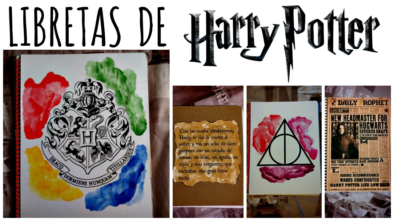 Libretas De Harry Potter Ideas Fáciles Ame Mayén