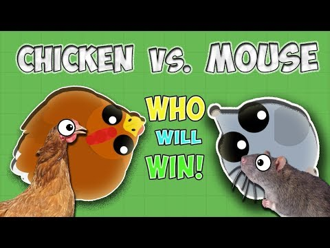 Mope.io CHICKEN VS MOUSE WHO WOULD WIN!? ARE THEY TOO OVERPOWERED? Mopeio Funny & Awesome Moments!!