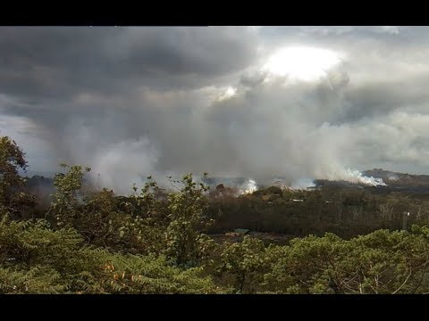 Latest, Live Footage, Several Cameras, Kilauea Volcano, New Fissures Spewing Lava, Geothermal Plant