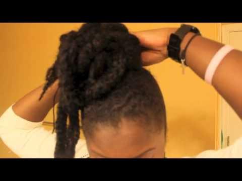 chic bun natural hair