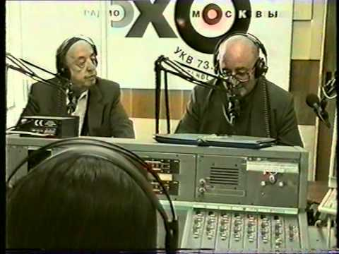 Cantor Misha Alexandrovich in Moscow, 1997! Radio Echo of Moscow, interview with Anatoliy Agamirov