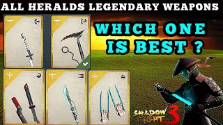 Shadow Fight 3 which one is your favorite Herald legendary weapon?
