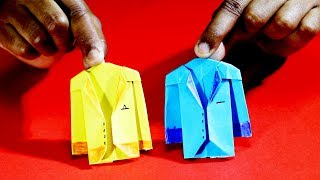 How to make a Paper Coat Easy, Origami suit Jacket Tutorial