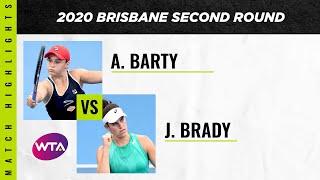 Ashleigh Barty vs. Jennifer Brady | 2020 Brisbane Second Round | WTA Highlights