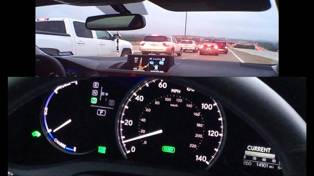 55 mpg Monday am rush-hour raining traffic Jam - Hypermiling Lexus ...