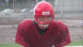 Helsinki Roosters juniors football practice in pouring rain