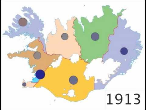 Population Changes in Iceland 1911-2011